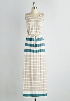Dune Dynamic Dress. A maven of all things sunny, sandy, and stylish, you rock vacation fashion with this jersey knit maxi! #grey #modcloth