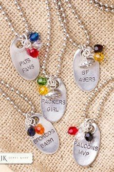 Cheer your favorite team on- youth teams- high school- college or the Pros! Makes a great fundraiser for your team as well! Contact arica.jewelkade.com - order yours today!