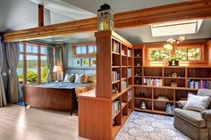 Bedroom on one side, reading nook on the other!