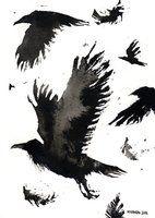 Ink ravens 02 by Myrntai