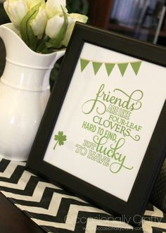 Cute Friendship Quote for St.Patrick's Day and any day from Occasionally Crafty. #Quote #Friendship #Printable #StPatricksDay @Erica Cerulo Crafty (Valerie)