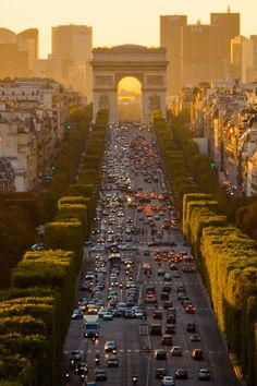Champs Elysees Avenue, Paris, France.