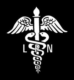 Nurse LPN Vinyl Medical Decal 6077