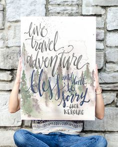 Live Travel Adventure Bless Jack Kerouac Poster by WinsomeEasel, $48.00