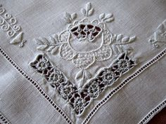Vintage Italian Embroidery and Cutwork  this is lovely work ~ 1920's - 1930's