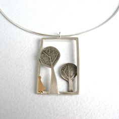 Forest Pendant | Contemporary Necklaces / Pendants by contemporary jewellery designer Becky Crow