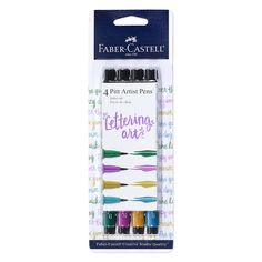 These unique, odorless and versatile brush pens in jewel tones allow you to create thick or thin brush strokes from 1 to 5mm. Perfect for brush lettering, stamping, and mixed media projects. India inks are waterproof, lightfast, acid-free and pH neutral, so your artwork stays bright and vibrant for many years to come. Store horizontally when not in use. Jewel Tone Colors, Jewel Tones, Faber Castell Pitt, Brush Pen, Brush Strokes, Pitt Artist Pens, India Ink, Letter Set, Artist Life