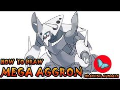Learn How To Draw Mega Aggron Pokemon ** Leave the comments for your request about the news lesson! Please help our channel grow by giving LIKES, sharing wit. Pokemon Ash Greninja, Draw Pokemon, Pokemon Charmander, Pokemon Sun, Pokemon Cards, Drawing Animals, Animal Drawings, Pokemon Challenge, Mega Evolution