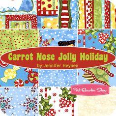 Carrot Nose Jolly Holiday Fat Quarter Bundle Jennifer Heynen for In the Beginning Fabrics