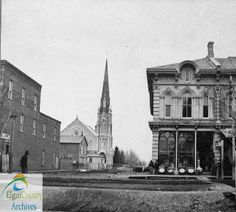 St. George Street, St. Thomas, looking north from Talbot Street, ca. 1875 by Elgin County Archives, via Flickr