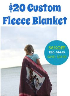 Custom Photo Fleece Blankets ~ 50% off! {these would make a fabulous gift, or fun family keepsake!} #photo #blankets
