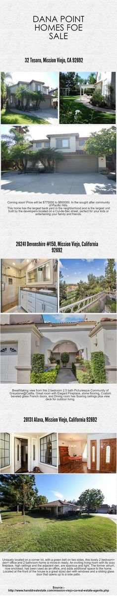 Mission Viejo, CA Real Estate Agents H&D Real Estate has the keys to your dream home in Mission Viejo, CA. We specialize in representing the discerning buyer find their ideal home. Let us do all the hard work of finding the perfect home for you. Our dedicated agents are ready to assist you with every facet of the home buying experience. #Mission_Viejo_CA_Real_Estate_Agents #Mission_Viejo_Homes_for_sale http://www.handdrealestate.com/mission-viejo-ca-real-estate-agents.php