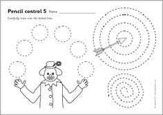 10 simple pencil control worksheets where children make straight lines, wavy lines, shapes and more. Tracing Sheets, Tracing Letters, Coloring Sheets, Coloring Books, Coloring Pages, Sparkle Box, Preschool Writing, Kids Learning Activities, Worksheets For Kids
