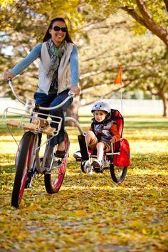 Przyczepka rowerowa Weehoo i-Go. Fotelik na kołach