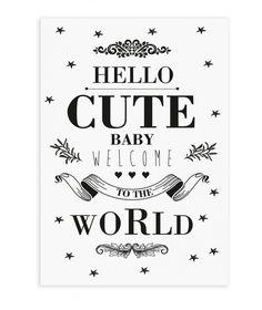 The Birds & The Bees `Kaart Cute Baby`   Zwanger en geboorte   Petite Louise