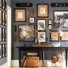 Slate blue wall decor