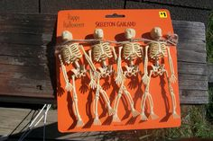 how to shape dollar store mini skeletons with hot and cold water