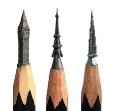 Delicadas esculturas esculpidas na ponta do lápis 06
