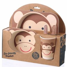 Child's Natural Plate Set