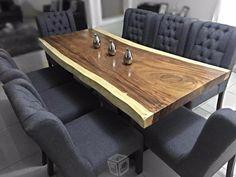 Resultado de imagen de mesa comedor madera industrial