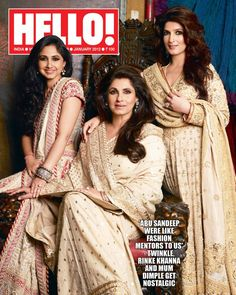 Bollywood's Fashionable Mom-Daughter Jodis - Twinkle Khanna, Rinki Khanna and Dimple Kapadia Bollywood Saree, Bollywood Actors, Bollywood Celebrities, Bollywood Fashion, Bollywood Wedding, Mother Daughter Photos, Mom Daughter, Mother Daughters, Mothers