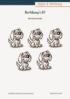 belajar angka 1-10 untuk TK/Balita (PAUD), mewarnai gambar lucu
