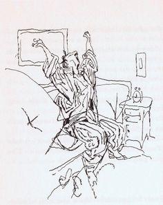 W. M Busch pen drawing