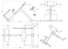 Back extension bench plan - Assembly drawing