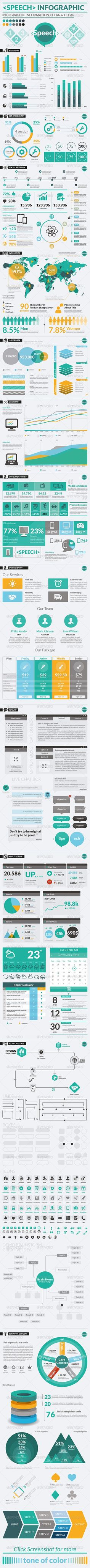 Speech Infographic Template #design Download: http://graphicriver.net/item/speech-infographic/6755476?ref=ksioks
