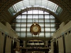 Museum d'Orsay, Paris.    I have a fantastic photo we took through the clock with The Louvre in the background!