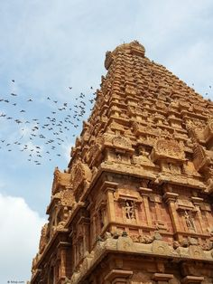 The 216 feet tall Gopuram (Temple Tower) of the Brihadeshwara Temple at Tanjavur in Tamilnadu. This is one of the tallest temple towers in the world.