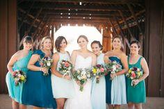 Bridesmaids Dresses - Turquoise Bridesmaids Dress - Blest Photography - NC Wedding Planner - Orangerie Events