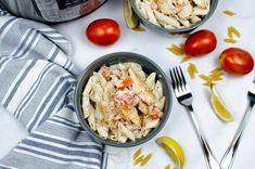 Instant Pot Cajun Chicken Pasta is a creamy and spicy pasta dish that makes for an easy weeknight dinner. This family friendly dinner idea can be ready in about 40 minutes! This Instant Pot chicken recipe is a family favorite in our household. What more could you ask for in an easy meal, than pasta, chicken and a flavorful creamy sauce? For this delicious Instant Pot chicken recipe you only need a handful of kitchen staples. With this tasty meal you might not even have to make a run to the groce
