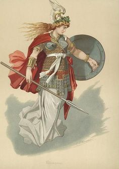 Carl Emil Doepler's Costume Designs for The Ring Cycle, Valkyrie.