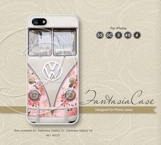 Rose, Floral, VW mini bus, iPhone 5 case, iPhone 5C Case, iPhone 5S case, Phone cases, iPhone 4 Case, iPhone 4S Case, iPhone case, FC-0727