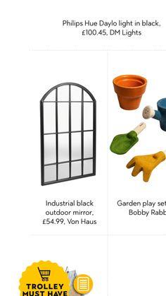 Outdoor Mirror, Black Garden, Lights, House, Door Mirrors, Light Fixtures, Lighting, Rope Lighting, Lanterns
