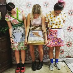 Spotted....a @footbridgecafe cutie in our Wrap Dress (on left) 😍 Showing off their new aprons by the super talented @nee.and.j 💚 Friendliest, most gorgeous cafe staff you ever did meet!