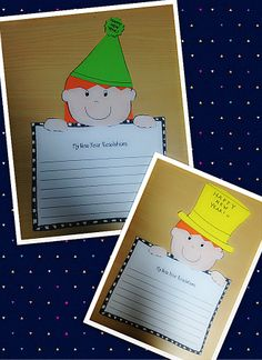Happy New Year Writing Craftivity and Fun Printables