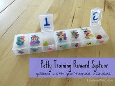 Potty Training Reward System: Pillbox with portioned candies Children and Babies, DIY Projects 05/29/2013