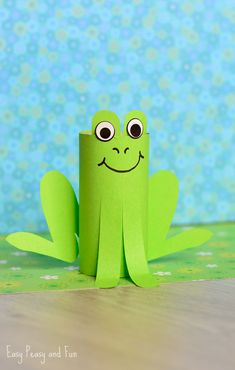 Paper Roll Frog Craft - Easy Peasy and Fun