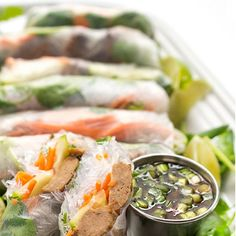 Fresh Rolls with Chicken Teriyaki Meatballs Recipe   Yummly