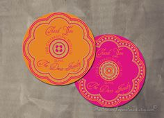 Diy PRINTABLE RUSTIC RANGOLI Favor Tag by TheIndianPaperForest, $18.75
