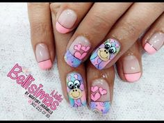 Decoracion de Uñas Paso a Paso Jirafas Bellisimas Nails 2019 - YouTube Animal Nail Designs, Nail Polish Designs, Nail Art Designs, Pedicure, Semi Permanente, Nail Salon Design, Disney Nails, Nail Wraps, Trendy Nails