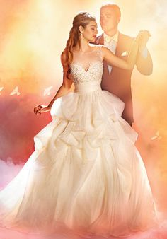 The Sleeping Beauty wedding gown from the Alfred Angelo Bridal Collection Wedding Dress Gallery, Wedding Dresses Photos, Wedding Dress Styles, Bridal Dresses, Disney Wedding Gowns, Princess Wedding Dresses, Gown Wedding, Romantic Princess, Disney Weddings