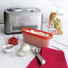 Breville® Smart Scoop™ Ice Cream Maker in Specialty Appliances   Crate and Barrel
