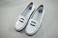 NEW Gravity Defyer Women's Danielle Flat Flats White Comfort Height RETAIL $130 #GravityDefyer #Comfort