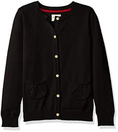 """Product review for Scout + Ro Girls' Button-Front Cardigan Sweater.  This button-front cardigan is a perfect layering piece featuring shirred front pockets and rib-knit trims       Famous Words of Inspiration...""""Life is to entered upon with courage.""""   Alexis de Tocqueville — Click here for more from Alexis..."""