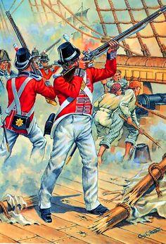 British Royal Marines, Trafalgar by Chas C Stadden.                                                                                                                                                                                 Más
