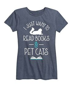 Add a dash of cheeky charm to your look with this graphic tee, made from a soft cotton-blend fabric for brutally-honest comfort. Brutally Honest, Books To Read, Graphic Tees, Reading, Pet Cats, Pets, Fitness, Mens Tops, High Point