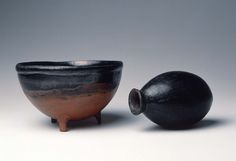 Three-footed black-topped red polished bowl  Nubian Classic Kerma about 1700–1550 B.C.  Findspot: Nubia (Sudan), Kerma, Cemetery S, Tumulus III, grave 330 | Museum of Fine Arts, Boston